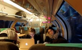 1 января 2018. Швеция, поезд.