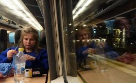 7 января 2018. Швеция, поезд.