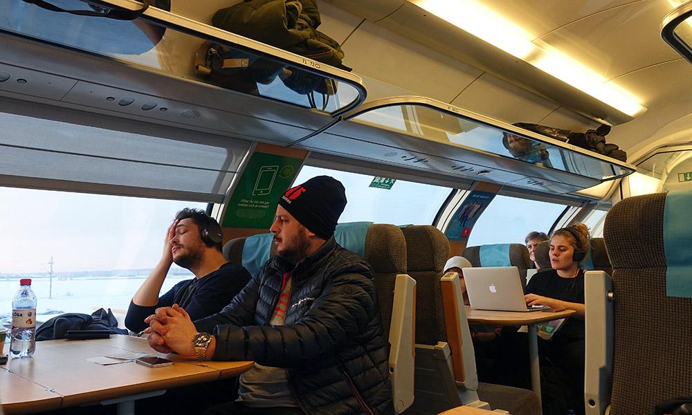 21 января 2018. Швеция, поезд.