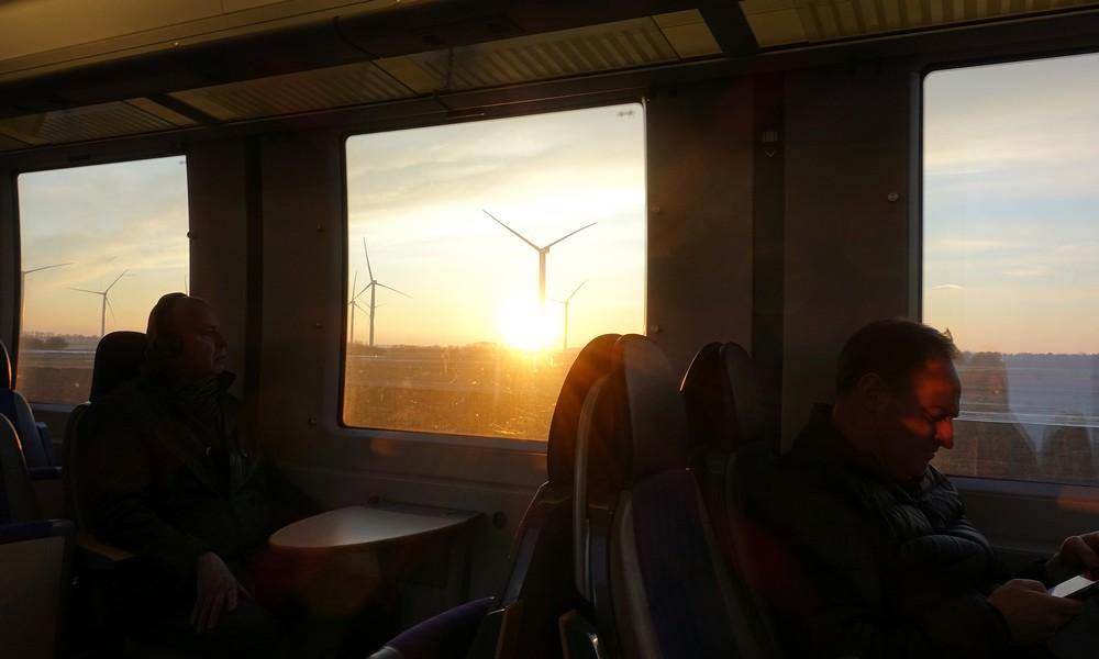 8 февраля 2018. Швеция, поезд.